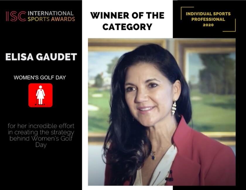 Elisa Gaudet ISC International Sports Award 2020