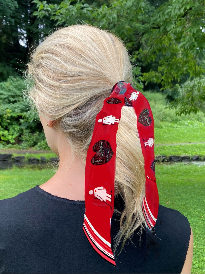 Women's Golf Day scarf closeup