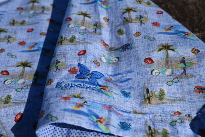 Bugatchi shirt with Kapalua logo