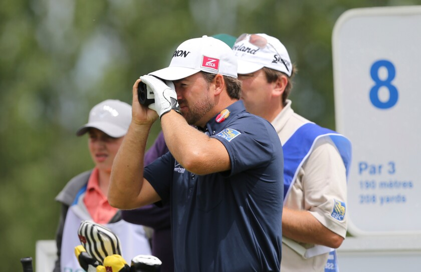 Graeme McDowell uses rangefinder DMD laser at 2013 French Open