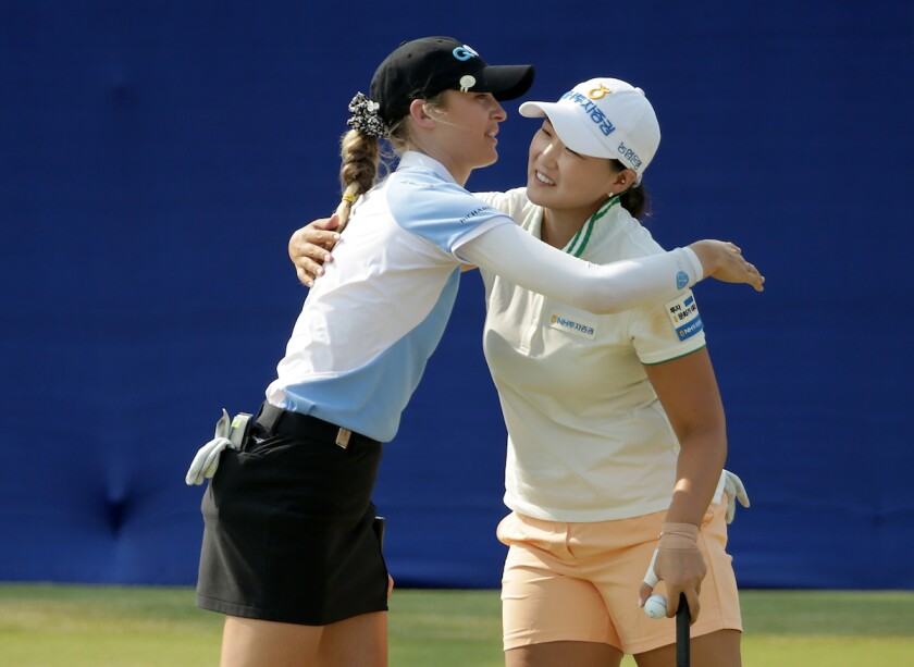 2020 ANA Inspiration final round Jessica Korda and Mirim Lee