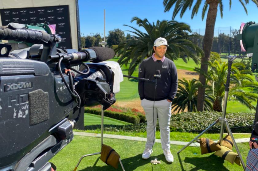 Jon Rahm faces media at PGA Tour event