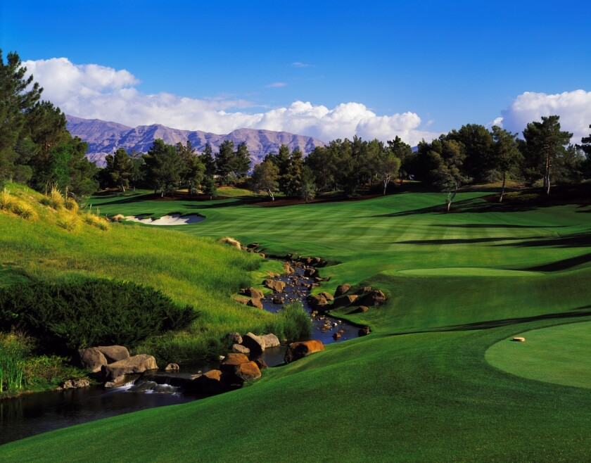 The 1st hole at Shadow Creek Golf Course in Las Vegas