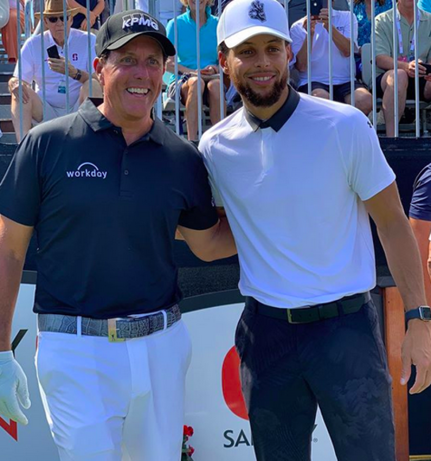 Phil Mickelson and Steph Curry Instagram