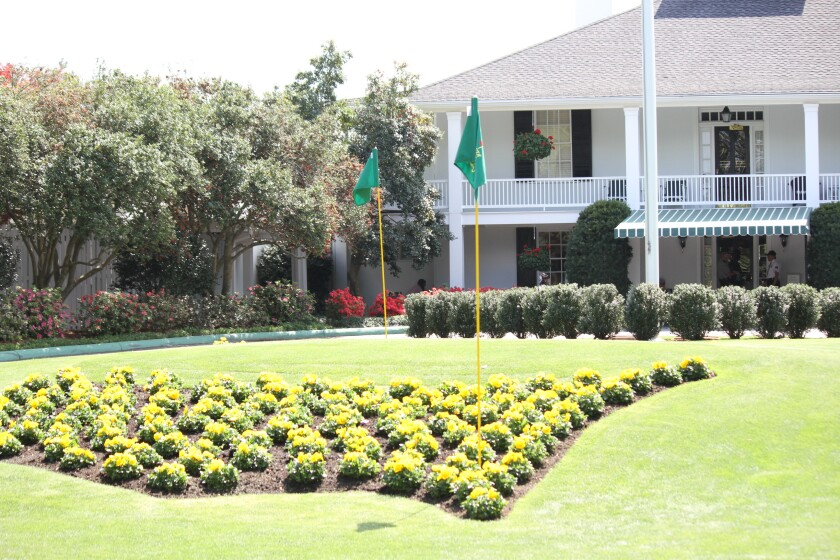 Masters Augusta National clubhouse scene