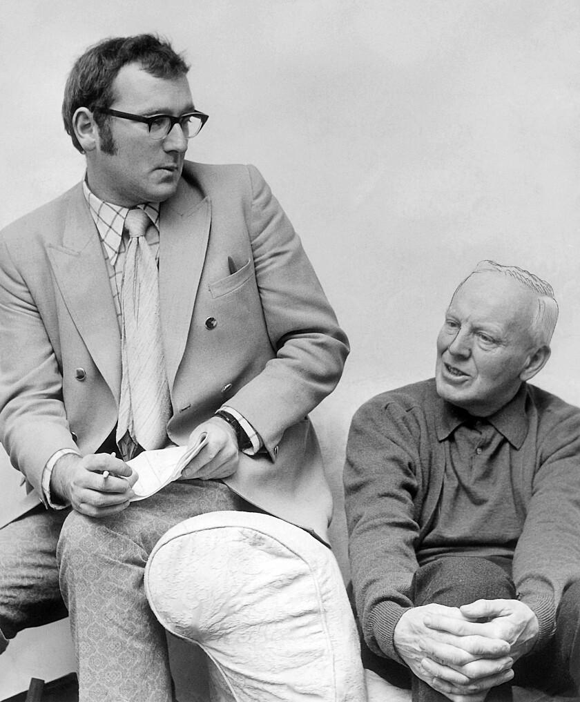 Pat Ruddy and Eddie Hackett