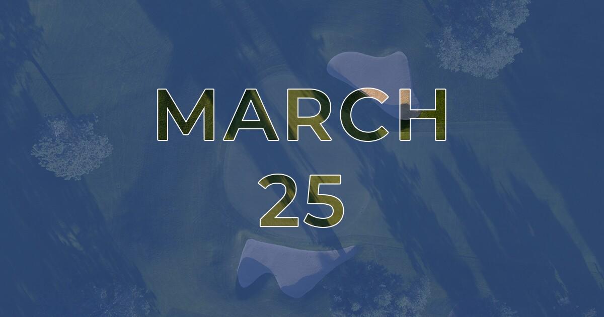 Golf News Hub - March 25th - Live Golf News