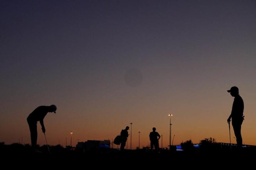 Golf at twilight