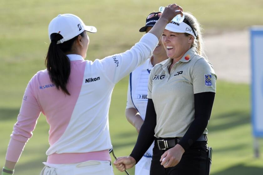 Brooke Henderson wins LPGA's Hugel-Air Premia L.A. Open