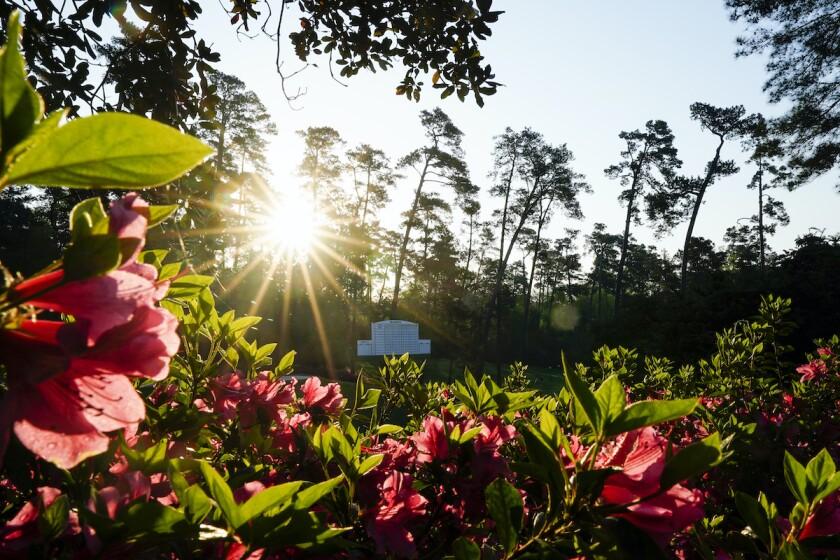 Augusta National scene 2021 Masters