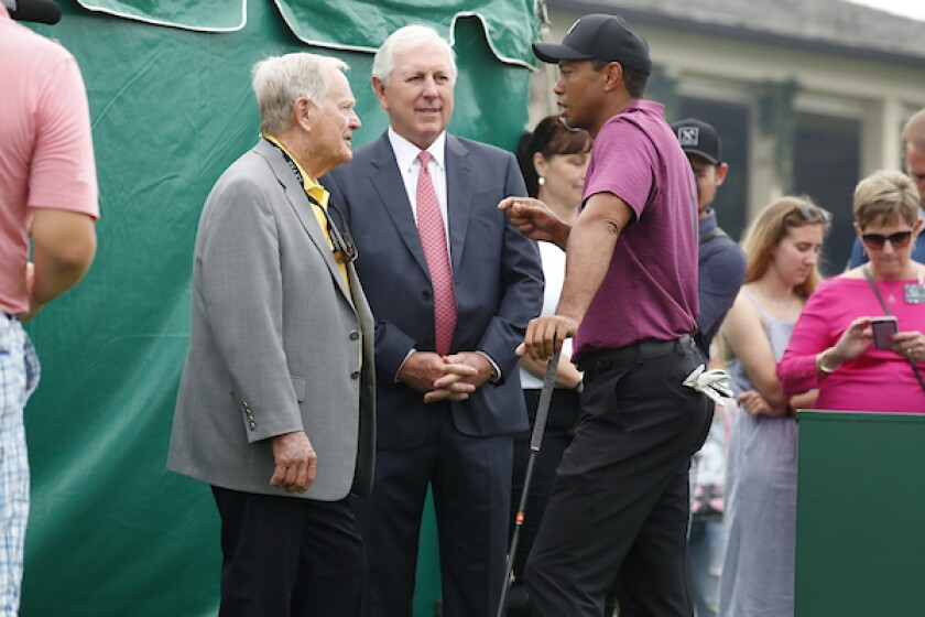 Tiger Woods, Jack Nicklaus, Hale Irwin