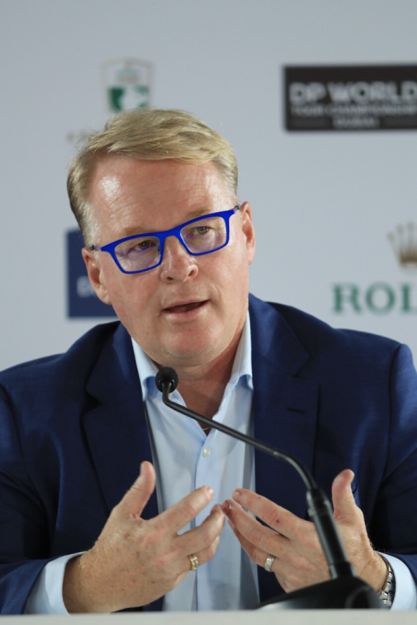 Keith Pelley, chief executive of the European Tour