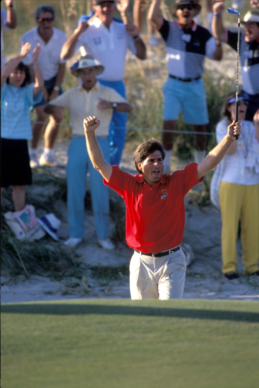 Fred Couples at 1991 Ryder Cup Kiawah Island Ocean Course