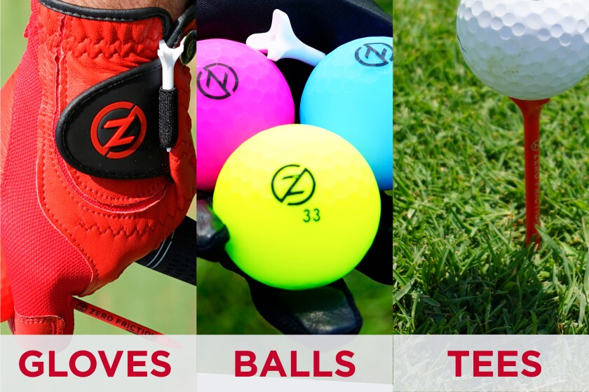 Zero Friction: Gloves, Balls and Tees