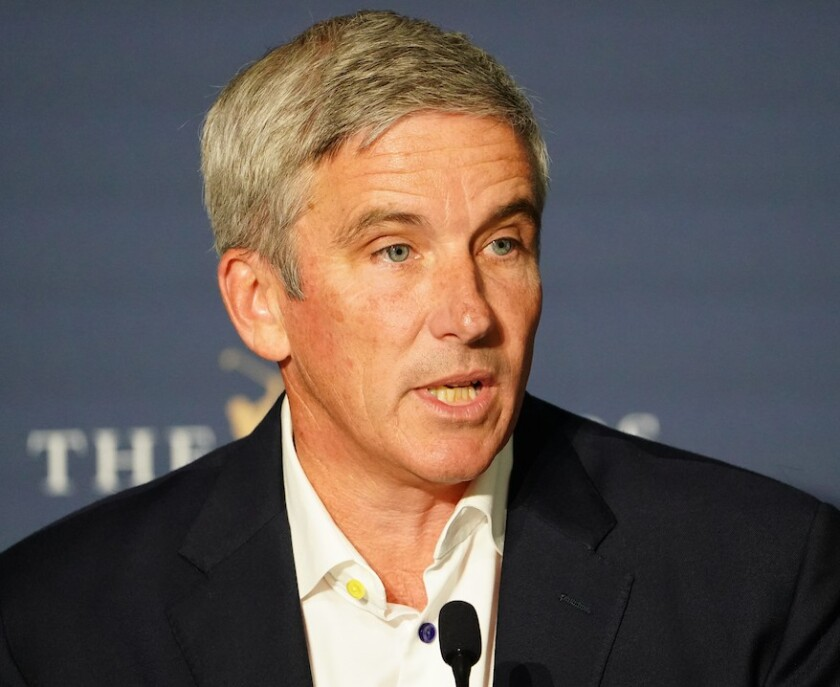 PGA Tour commissioner Jay Monahan at 2020 Players