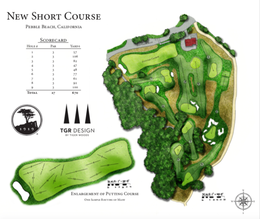 Rendering of Tiger Woods short course at Pebble Beach