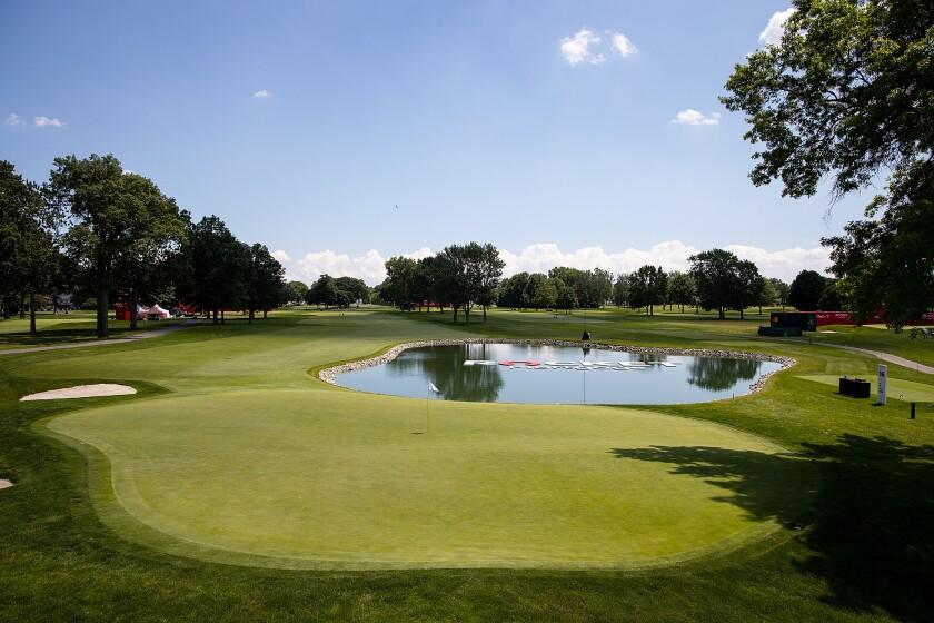 Rocket Mortgage Classic Detroit Golf Club 14th hole