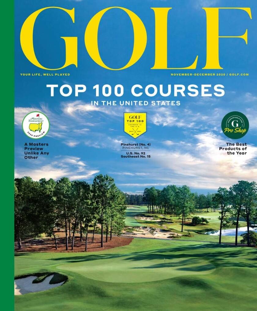 Golf Magazine Top 100 issue 2020