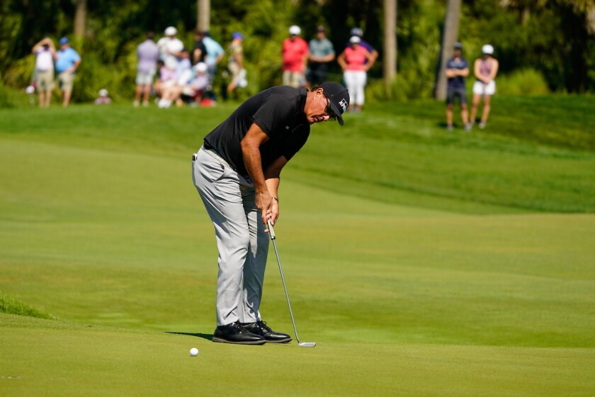 Phil Mickelson in second round of 2021 PGA Championship