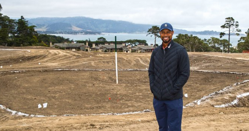 Tiger Woods at Pebble Beach site of short course