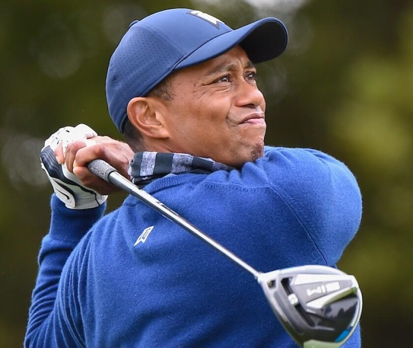 Tiger Woods at 2020 PGA Championship at Harding Park