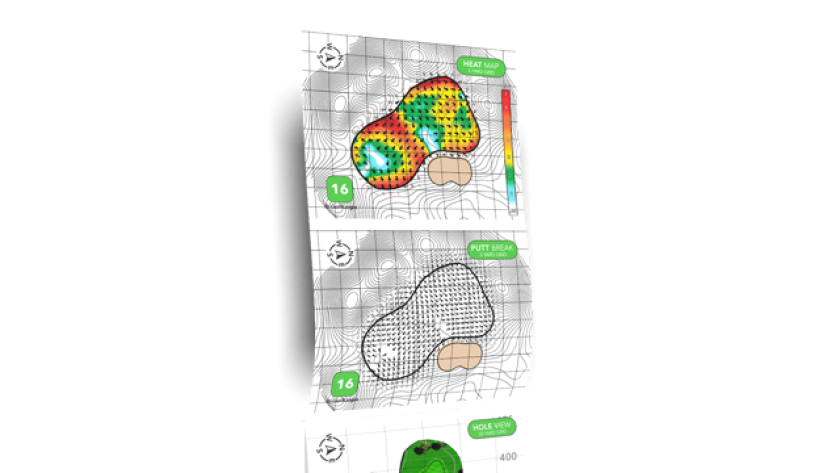 GolfLogix Heat Map and Putt Map