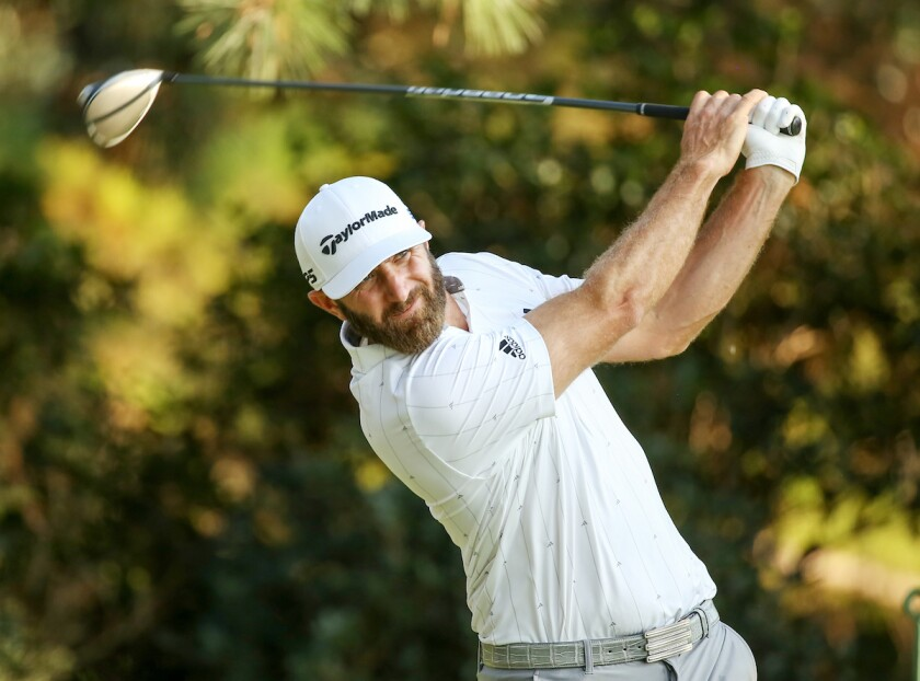 Dustin Johnson leads after third round of the 2020 Masters