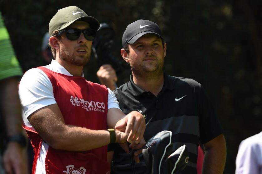 Patrick Reed and Caddy at World Golf Championships - Mexico