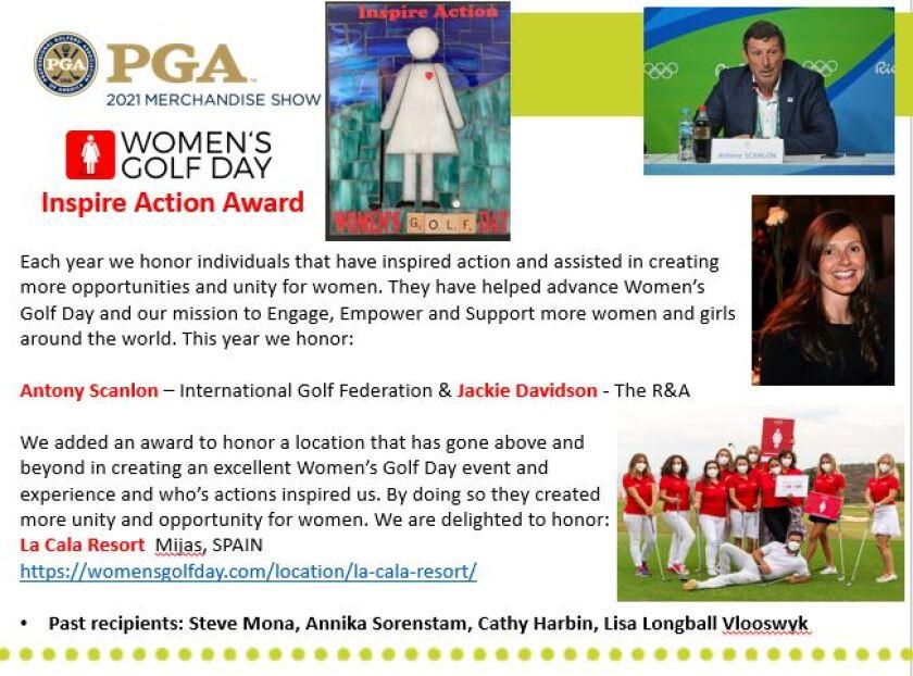 Women's Golf Day — Inspire Action Award Winners 2021
