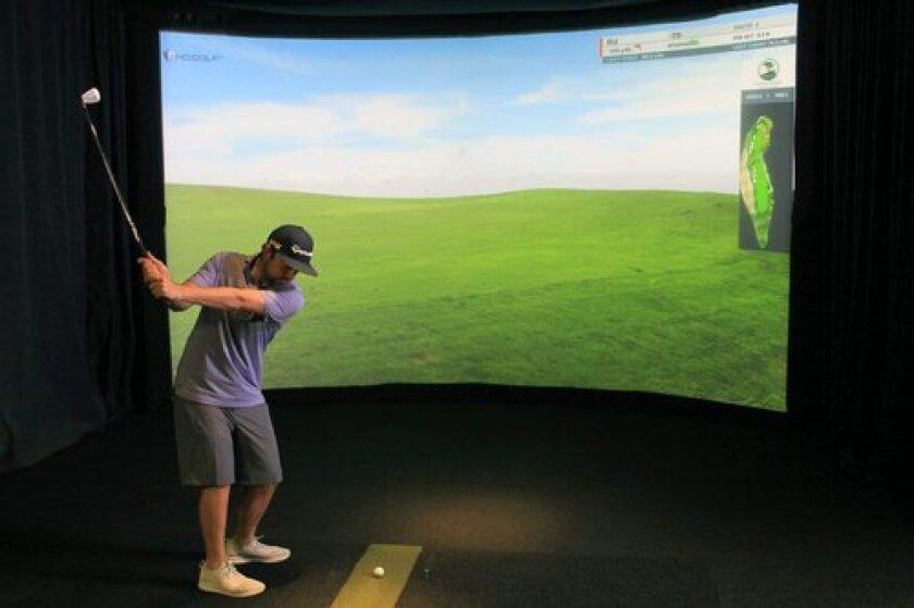 HD Golf Simulator at Greystone Golf Club in Sauk Centre Minnesota