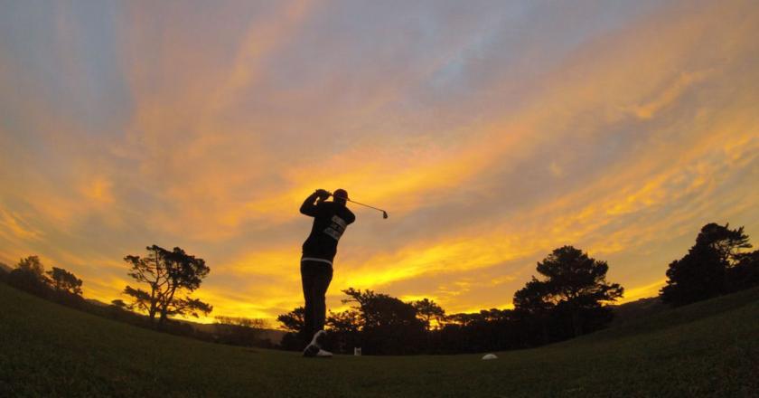 Golfer At Twilight