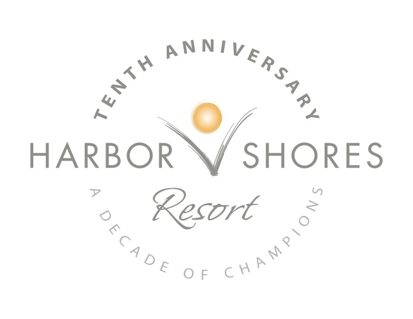 Harbor Shores Resort 10-year logo