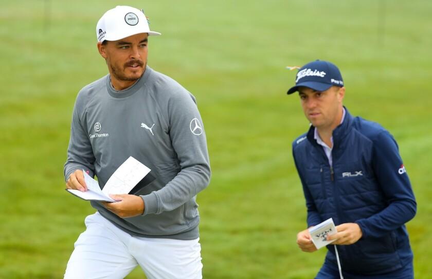 Rickie Fowler and Justin Thomas at 2020 PGA