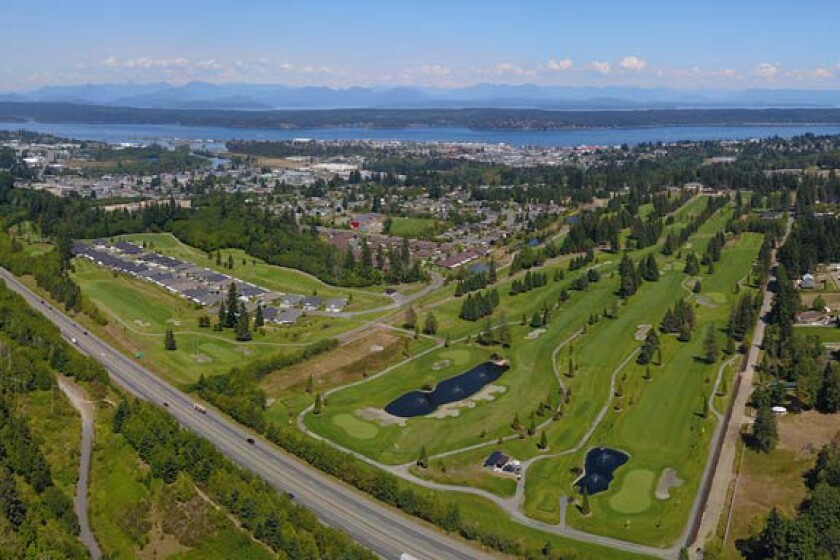 Campbell River Golf and Country Club, aerial view