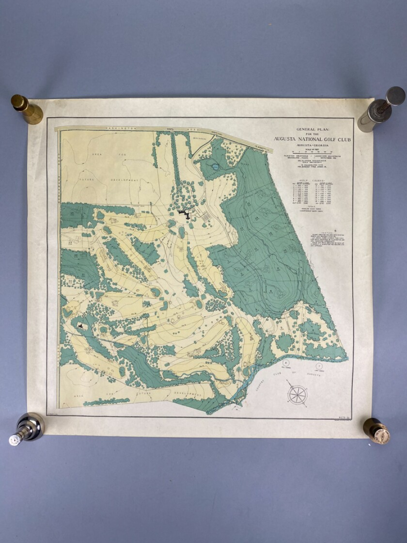 Augusta National architectural map