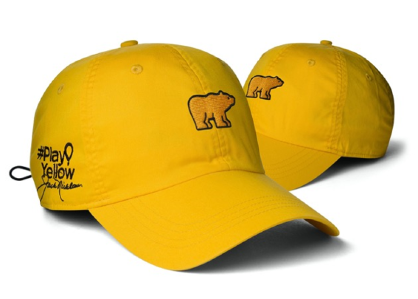 Ahead Nicklaus Play Yellow Golf Hats