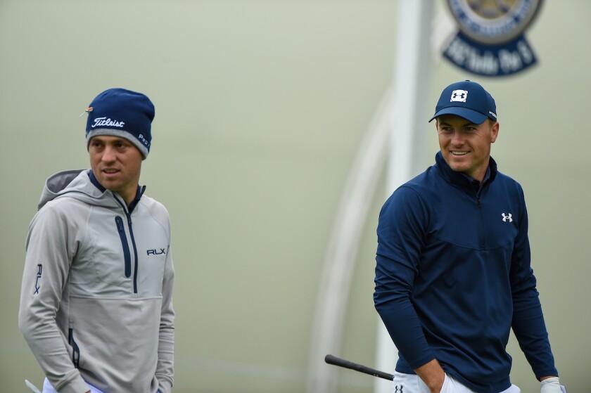 Justin Thomas and Jordan Spieth 2020 PGA Championship practice round