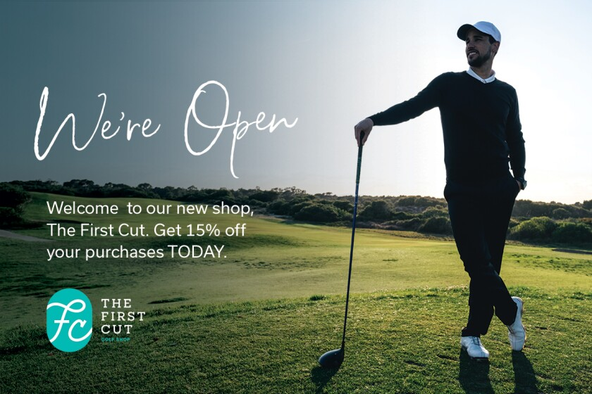 First Cut Golf Shop - Now Open