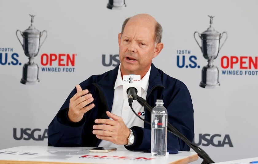 USGA CEO Mike Davis at 2020 U.S. Open at Winged Foot