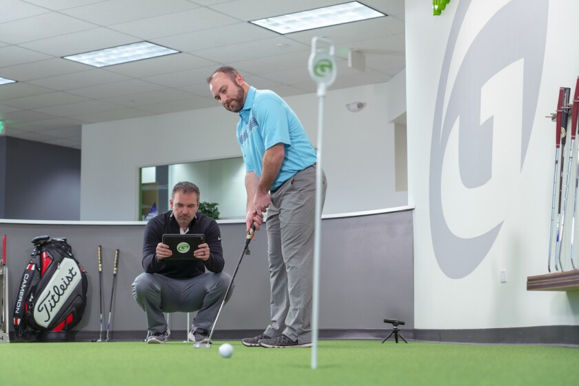 Golftec putter fitting