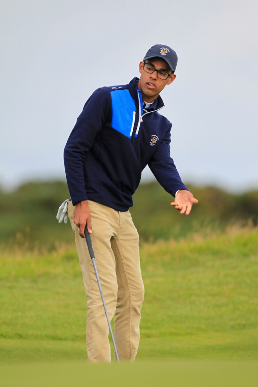 American Akshay Bhatia pictured during the Walker Cup