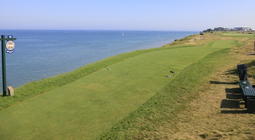 Whistling Straits par 5 16th hole