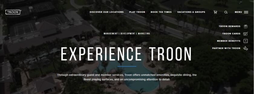 Troon Launches New Website