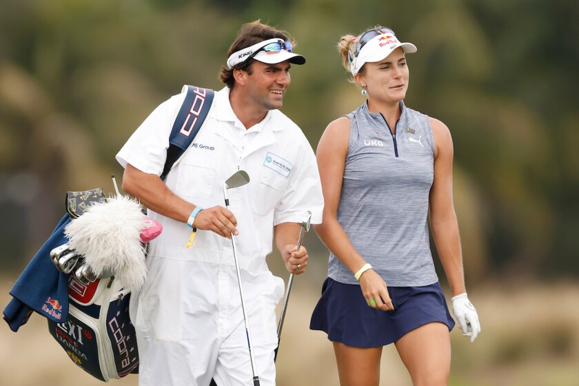 Lexi Thompson and brother Curtis Thompson 1st round 2020 CME Group Tour Championship