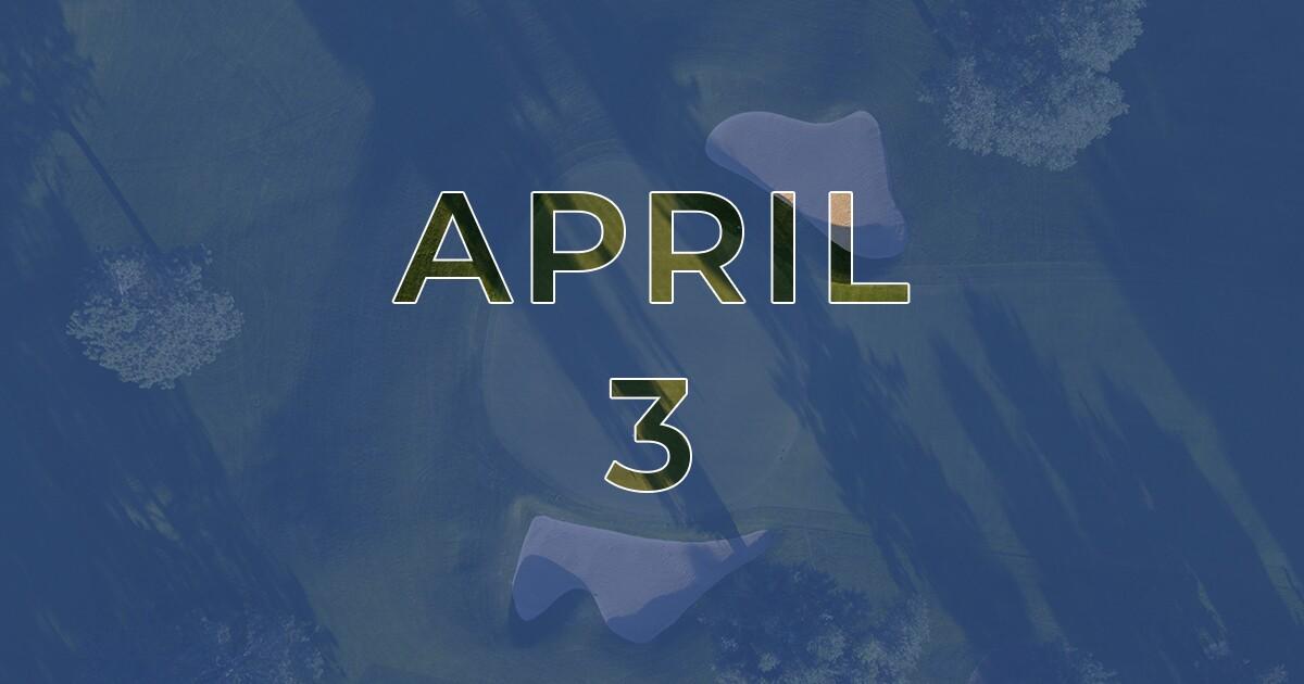 Golf News Hub - April 3 - Live Golf COVID-19 News