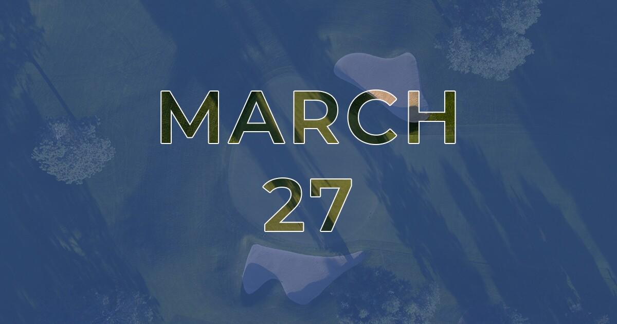 Golf News Hub - March 27th - Live COVID-19 Golf News