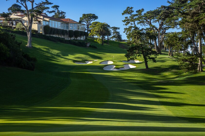 18th hole at The Olympic Club's Lake Course