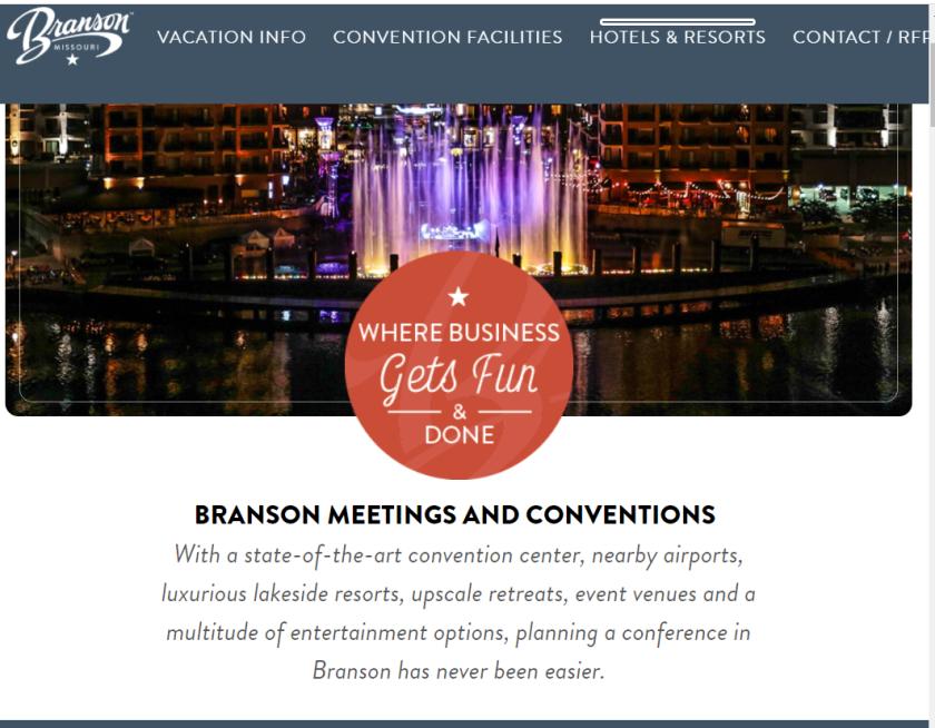 Explore Branson Meetings banner