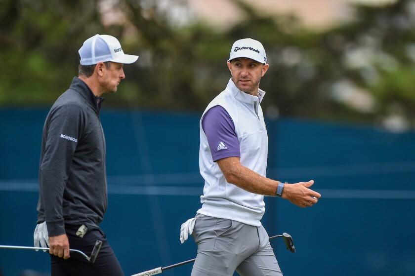 Justin Rose and Dustin Johnson at 2020 PGA Championship