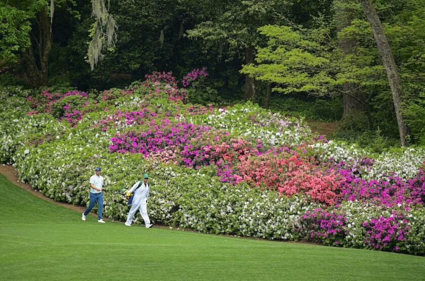 Justin Rose in first round of 2021 Masters